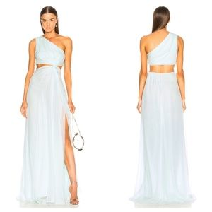 Cinq a Sept Blue Grass Goldie Grecian Maxi Dress